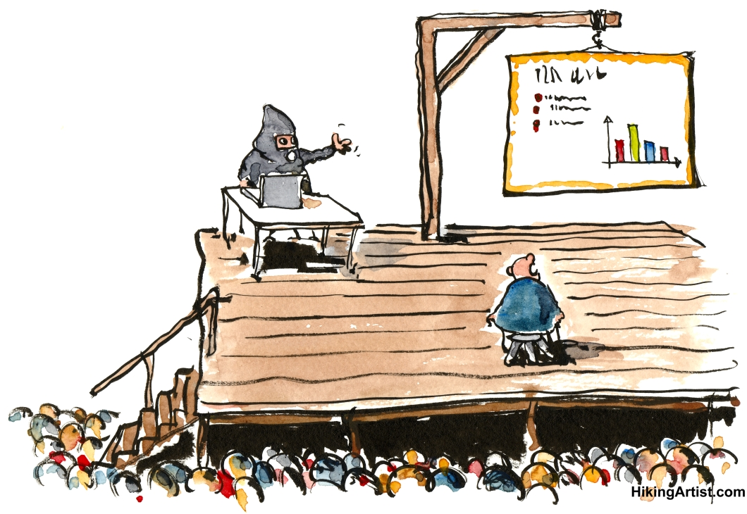 death by powerpoint funny drawing by frits illustrations about life